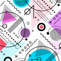 1980s inspired memphis pattern background Royalty Free Stock Photo