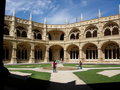 S. Jeronimos cloister Stock Images