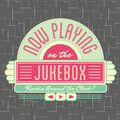 S jukebox style logo design all fonts shown are for visual purposes only and freely availalble for open license use from sources Stock Images