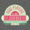1950s Jukebox Style Logo Design Royalty Free Stock Photo