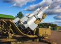 S m nevam soviet surface to air missile system at stalin line museum summer nato reporting name sa goa Stock Images