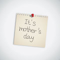 It's Mother's Day Note Paper Royalty Free Stock Photo