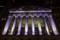 S nachts new york stock exchange Royalty-vrije Stock Foto