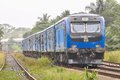S new train in paliyagoda srilanka passing srilanka on Stock Photo