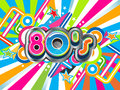 80s Party background Royalty Free Stock Photo