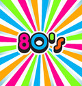 80s Pop Art Background Royalty Free Stock Photo