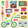 S retro lifestyle objects in color Stock Image