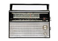 1960s retro radio isolated over white Royalty Free Stock Photo