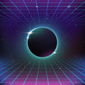 S retro sci fi background with sphere Stock Image