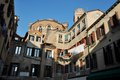 S rocco camp venice italy small square with historic buildings called campiello Stock Images