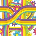 60s 70s Seamless Pattern