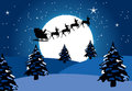 S santa sleigh Στοκ εικόνες με δικαίωμα ελεύθερης χρήσης