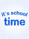 It's school time in blue over squared sheet Stock Photography