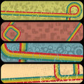 70's Stripes Banners Royalty Free Stock Photo