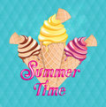 It`s summer time and vacation holiday.ice cream time vector and