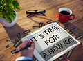 It's Time For New Job Career Employment Concept Royalty Free Stock Photo