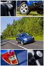 S.U.V. car collage Royalty Free Stock Photo
