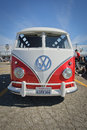 S vw deluxe microbus t type samba bus pomona usa march restored early on display at pomona classic car show east of los angeles ca Stock Image