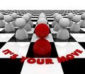It's Your Move - Chess Board Royalty Free Stock Images