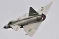 Saab viggen historic aircraft on nato days Royalty Free Stock Photography