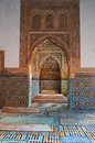 Saadian tomb mausoleum in marrakech morocco Royalty Free Stock Image