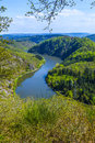 Saar loop at cloef a famous view point Stock Photo