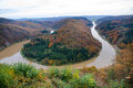 Saar loop at cloef a famous view point on autumn day Stock Image