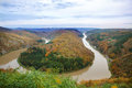 Saar loop at cloef a famous view point on autumn day Stock Photo