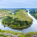 Saar loop at mettlach a famous view point Royalty Free Stock Image