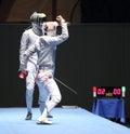 Saber World Fencing Tournament Royalty Free Stock Photos