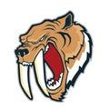 Sabertooth tiger head mascot Royalty Free Stock Photo