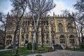 Sabir monument and Building of National Academy in Baku, Azerbaijan Royalty Free Stock Photo