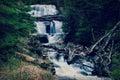 Sable falls waterfall in grand marais michigan in the upper peninsula Stock Photography