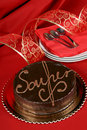 Sacher torte chocolate cake Stock Photography