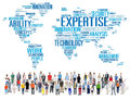 Sachkenntnis karriere job profession occupation concept Lizenzfreies Stockfoto
