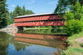 Sachs Bridge With Reflection In the Water in Gettysburg, Pennsylvania Royalty Free Stock Photo