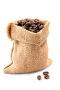 Sack with coffee