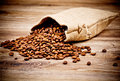 The sack of coffee beans
