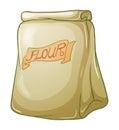 A sack of flour Royalty Free Stock Photo