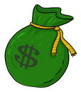 Sack of money with dollar sign illustration Royalty Free Stock Photography