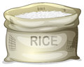 A sack of white rice illustration on background Stock Photo