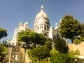 Sacré cœur basilica paris september the of the sacred heart of paris on september in paris france Royalty Free Stock Photo