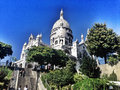 Sacré cœur basilica paris september the of the sacred heart of paris on september in paris france Stock Photography