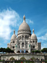 Sacré cœur cathedral at montmartre paris the on a sunny late spring early summer day Stock Photo