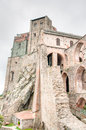 Sacra di san michele middle ages abbey in torino ruins piemonte attraction Royalty Free Stock Images