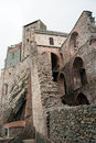 Sacra di san michele middle ages abbey in torino ruins piemonte attraction Royalty Free Stock Photos