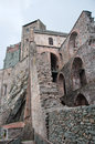 Sacra di san michele middle ages abbey in torino ruins piemonte attraction Royalty Free Stock Photography