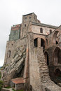 Sacra di san michele middle ages abbey in torino ruins piemonte attraction Stock Photos