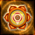 The sacral chakra illustration of a mandala Royalty Free Stock Image