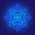 Sacral geometry figure in cosmic sky